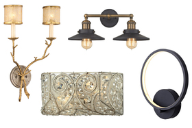 4 Lighting Trends for Bathrooms: Hotel-Chic, Industrial, Modern and Glam