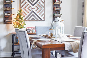 Rustic Wood Finishes Make a Beautiful Wintry Backdrop