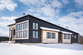 Swedish-Canadian Family's Minimalist Meadow Home