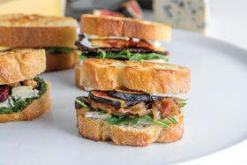 Gourmet Grilled Cheese Baguette Minis, Three Ways