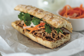 Pulled Pork Banh Mi Sandwich