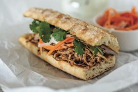 Pulled Pork Banh Mi Sandwich