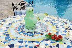 DIY Mosaic Patio Table
