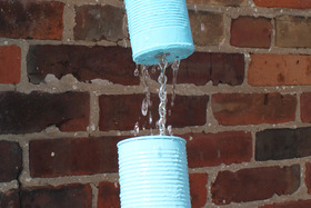 Soup Can Rain Chain DIY