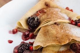 Blackberry 'n Cream Buckwheat Crepes
