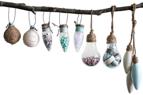 One-of-a-Kind Ornaments from Burnt-Out Lightbulbs