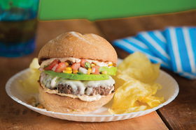 Baja Beach-Inspired Burger