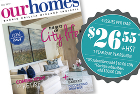 SUBSCRIBE to Our Homes: One Year of Home Delivery